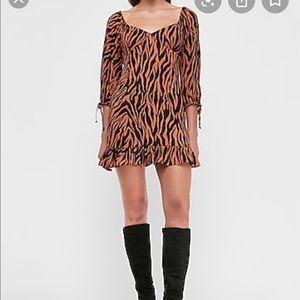 Express Tiger Print Dress size medium